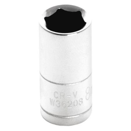 "Performance Tool Standard Socket 1/4"" D 6pt. 8mm"