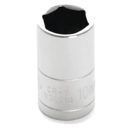 "Performance Tool Standard Socket 1/4"" D 6pt. 10mm"