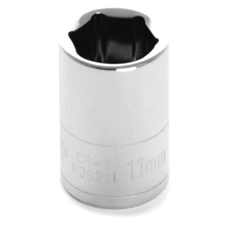 "Performance Tool Standard Socket 1/4"" D 6pt. 11mm"