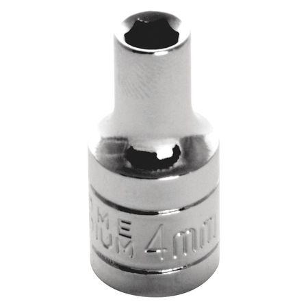 "Performance Tool Standard Socket 1/4"" D 6pt. 4mm"