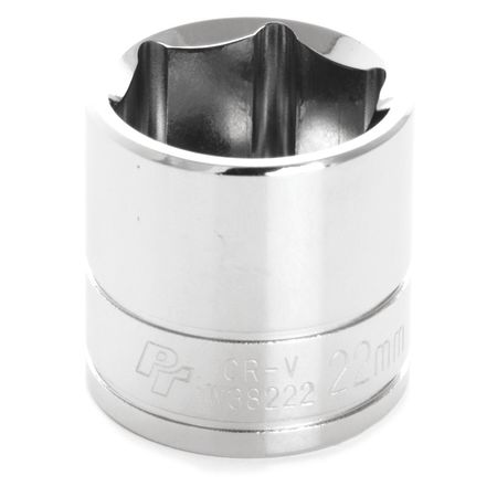 "Performance Tool Standard Socket 3/8"" D 6pt. 22mm"