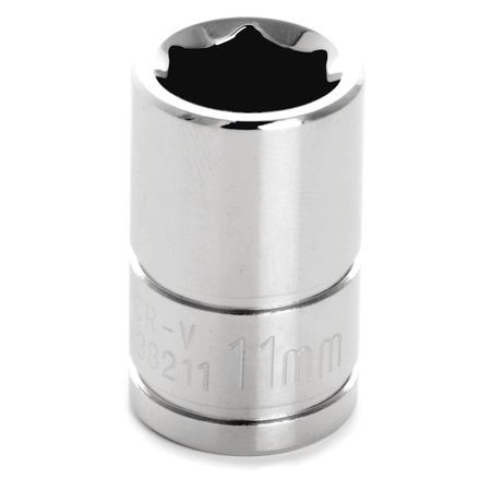 "Performance Tool Standard Socket 3/8"" D 6pt. 11mm"
