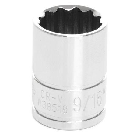 "Performance Tool Standard Socket 3/8"" D 12pt. 9/16"