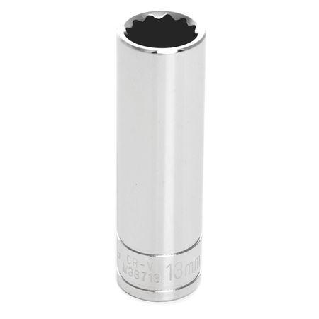 "Performance Tool Deep Socket 3/8"" D 12pt. 13mm"