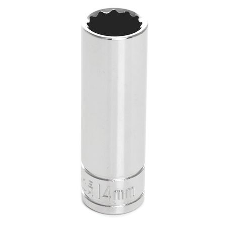 "Performance Tool Deep Socket 3/8"" D 12pt. 14mm"