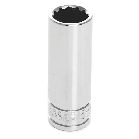 "Performance Tool Deep Socket 3/8"" D 12pt. 15mm"