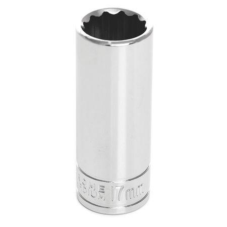 "Performance Tool Deep Socket 3/8"" D 12pt. 17mm"