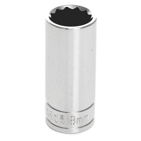 "Performance Tool Deep Socket 3/8"" D 12pt. 18mm"