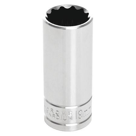"Performance Tool Deep Socket 3/8"" D 12pt. 19mm"