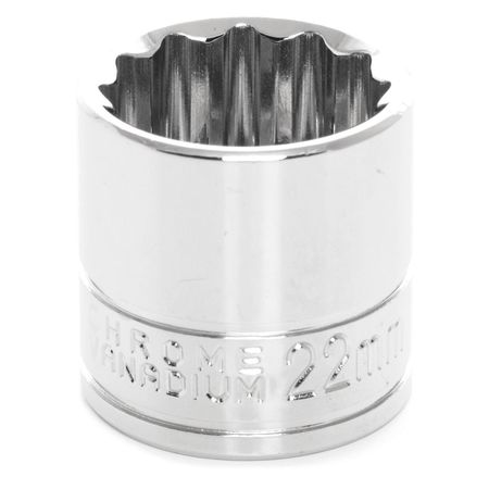 "Performance Tool Standard Socket 3/8"" D 12pt. 22mm"