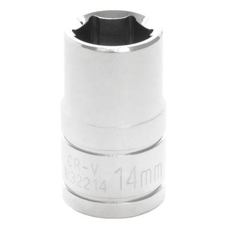 "Performance Tool Standard Socket 1/2"" D 6pt. 14mm"
