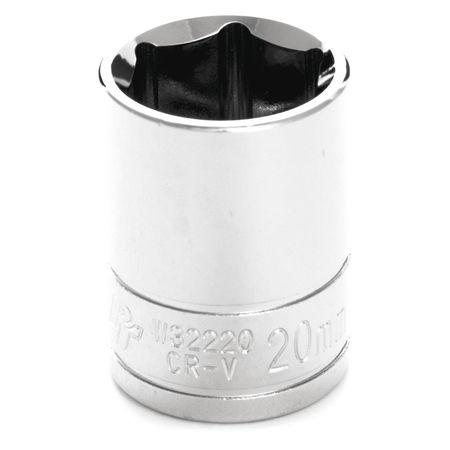 "Performance Tool Standard Socket 1/2"" D 6pt. 20mm"