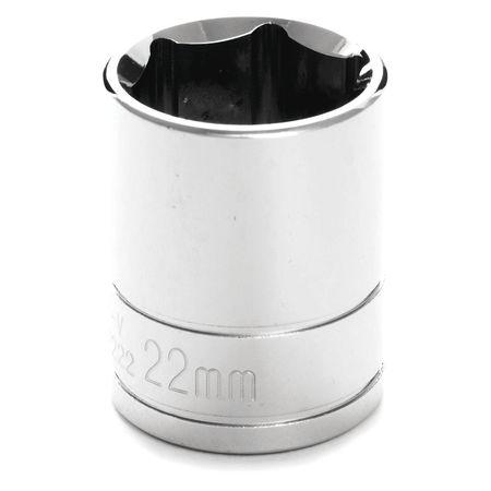 "Performance Tool Standard Socket 1/2"" D 6pt. 22mm"