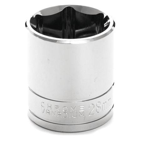 "Performance Tool Standard Socket 1/2"" D 6pt. 28mm"