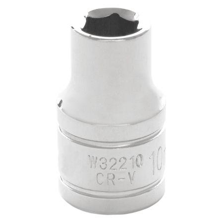 "Performance Tool Standard Socket 1/2"" D 6pt. 10mm"
