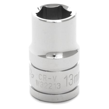 "Performance Tool Standard Socket 1/2"" D 6pt. 13mm"