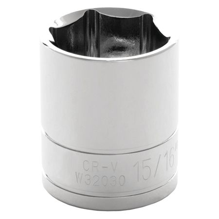 "Performance Tool Standard Socket 1/2"" D 6pt. 15/16"