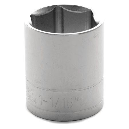 "Performance Tool Standard Socket 1/2"" D 6pt. 1 1/16"