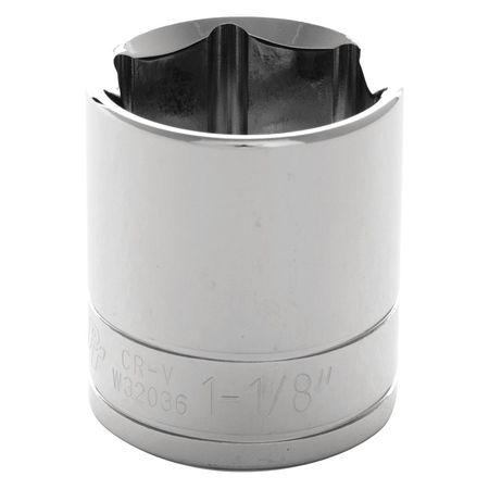 "Performance Tool Standard Socket 1/2"" D 6pt. 1 1/8"