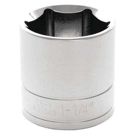 "Performance Tool Standard Socket 1/2"" D 6pt. 1 1/4"