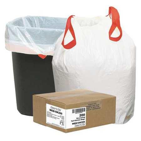 Trash Bags,hd,13 Gal.,white,pk200