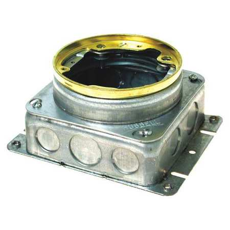 Floor Box 37.3 cu. in. Capacity Round by USA Raco Electrical Floor Boxes & Covers