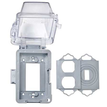 """While In Use Cover 2 3/4"""" D 1 Gang Clear by USA Raco Electrical Weatherproof Box Covers"""