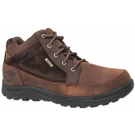 Boots 10-1/2 w brown steel pr