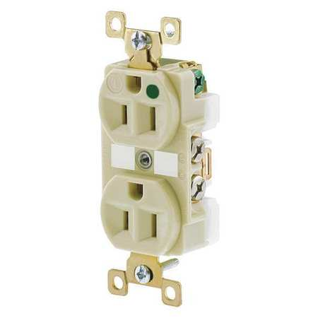 15A Duplex Receptacle 125VAC 5 15R IV Model BRY8200IL by USA Bryant Electrical Straight Blade Receptacles