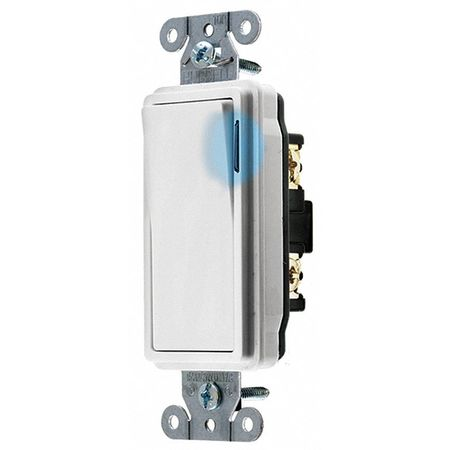 Illuminated Wall Switch 20A 1 Pole Type by USA Bryant Electrical Wall Switches