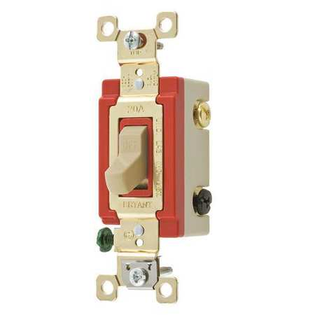 Wall Switch 20A Ivory 3 Way Type Toggle by USA Bryant Electrical Wall Switches