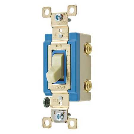 Wall Switch 15A Ivory 2 Pole Type Toggle by USA Bryant Electrical Wall Switches