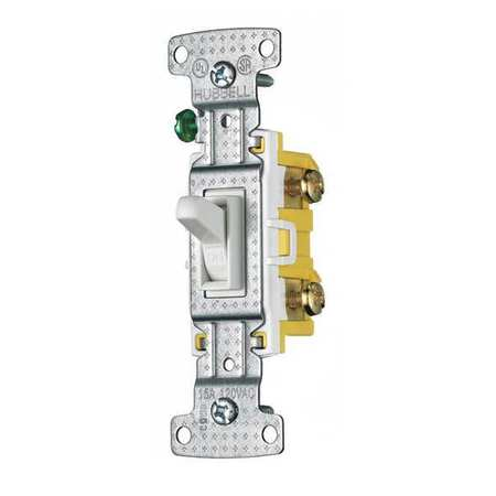 Wall Switch 15A White 1 Pole Type 1/2 HP by USA Bryant Electrical Wall Switches