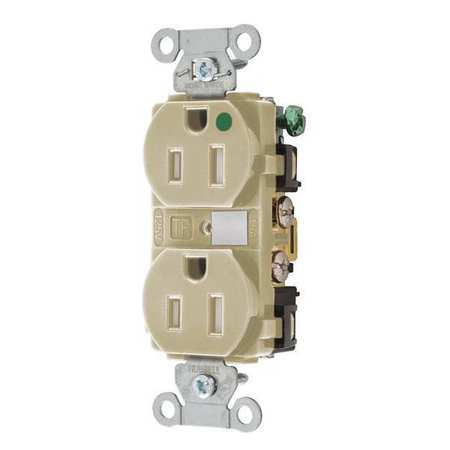 15A Duplex Receptacle 125VAC 5 15R IV Model 8200HBITR by USA Bryant Electrical Straight Blade Receptacles