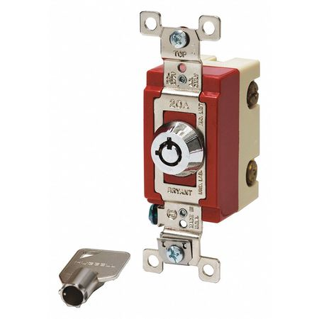 Wall Switch 20A 3 Way Type Locking by USA Bryant Electrical Wall Switches
