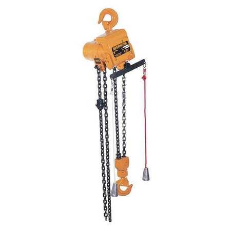 Harrington Air Chain Hoist 2000 lb. Lift 10 ft.