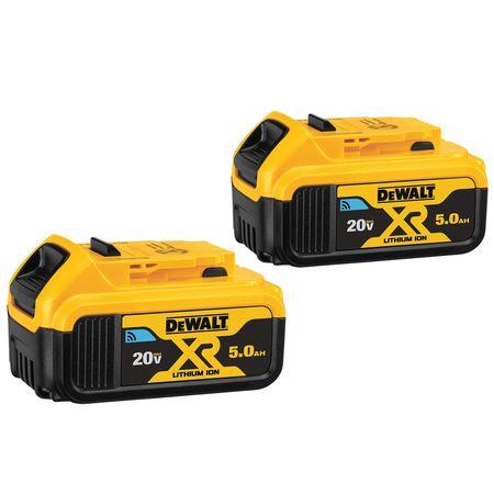 DeWalt DCB205BT-2 20V MAX Battery, Bluetooth 5.0Ah Double Pack