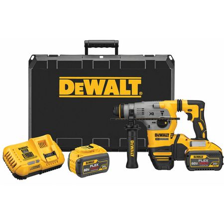 "DeWalt DCH293X2 20V MAX XR Brushless 1-1/8"" L-Shape SDS Plus Rotary Hammer Kit"