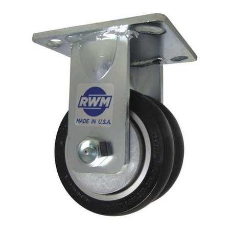 """RWM Plte Caster Rgd Poly 8"""" 2000 lb. Blck"""