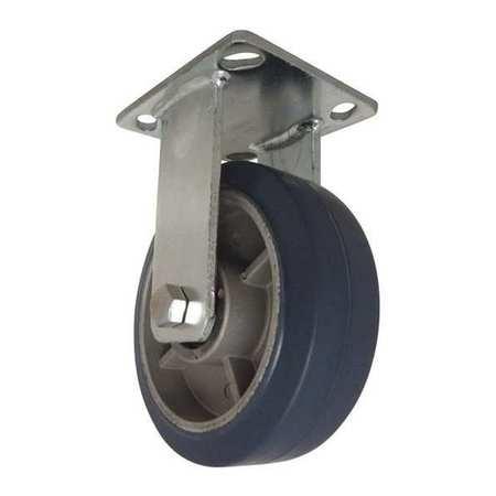 """RWM Plate Caster Rigid Rubber 6"""" 615 lb."""