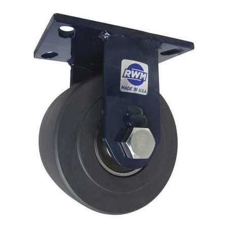 """RWM Kingpinless Rgd Caster Nylon 6"""" 6000 lb"""