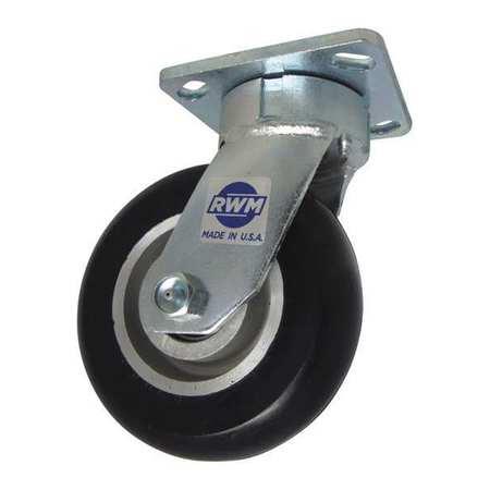 "RWM Swivel w/6x2"" Rubber on Nylon Wheel"