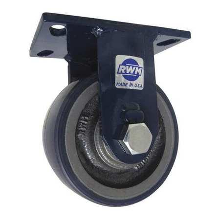 """RWM Plte Caster Rgd Poly 6"""" 2000 lb."""