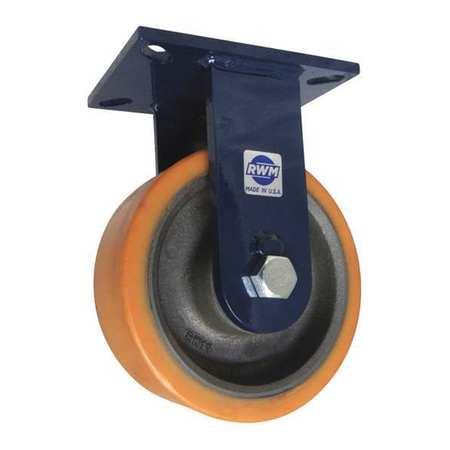 "RWM Plate Caster Rigid Poly 8"" 4000 lb Tn"