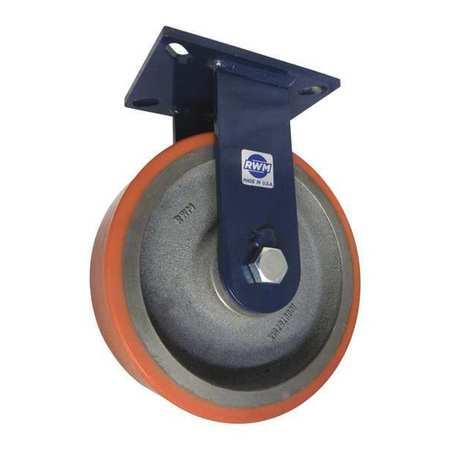 """RWM Plate Caster Rigid Poly 10"""" 5000 lb."""