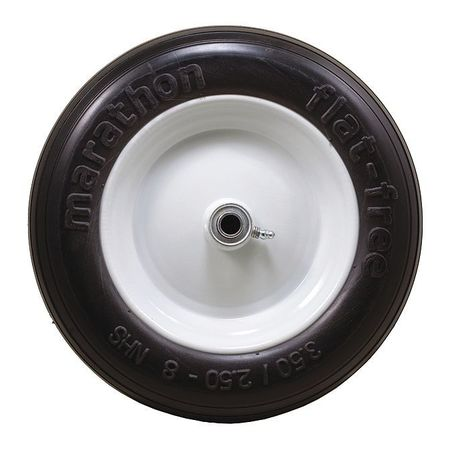 Value Brand Solid Wheel Ribbed 275 lb. Load Rating