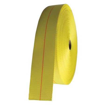 """Bulk-Strap Bulk Webbing Yellow 50 ft. L 3"""" W"""