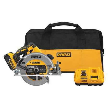 DeWalt DCS570P1 7-1/4 (184mm) 20V Cordless Circular Saw with Brake Kit