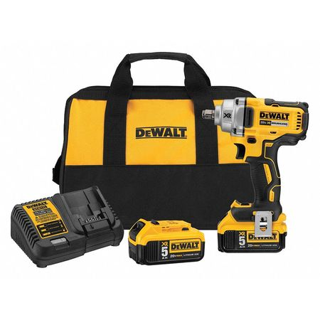 DeWalt DCF894HP2 20V Max Xr 1/2 Mid-Range Cordless Impact Wrench with Hog Ring Anvil Kit