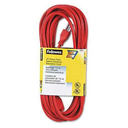 25 ft. 1 Outlet Orange Extension Cord by USA Fellowes Extension Cords